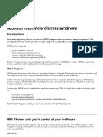 Neonatal Respiratory Distress Syndromenhschoices