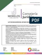 Ley Educacion Estado de Morelos