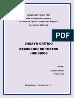 Ensayo Critico Redaccion de Textos Juridicos PDF