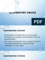 Lecture 10 Respiratory Drugs