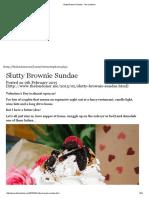 Slutty Brownie Sundae - The Londoner