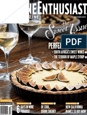 Wine Enthusiast Magazine Maple Syrup Wine