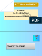 Unit-V-project Audit and Closure