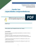 Cuestionario Perfil Del Emprendedor - Nivel de Capacidades Emprendimiento en El Aula