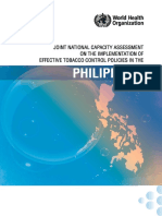 Joint national capacity assessment on the implementation of effective tobacco control policies in the Philippines