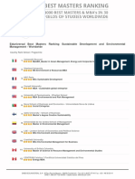Master Degrees Ranking 2016 - Best Masters Ranking Sustainable Development and Environmental Management - Worldwide