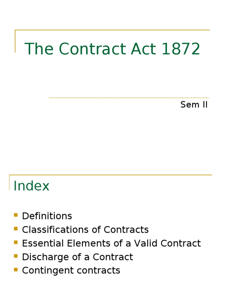 Contract Act Ppt | Offer And Acceptance | Consideration