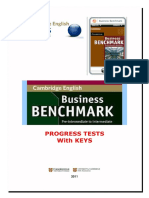Progress Test Business benchmark upper intermediate