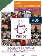 Folleto Jornadas PIALTE en el Chapatal
