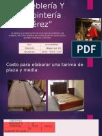 Carpinteria costos