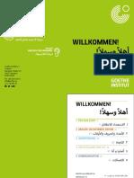 Sprachbroschuere Willkommen