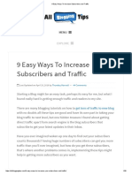 9 Easy Ways to Increase Subscribers and Traffic