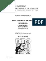 metalmecanica informe