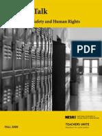 Teachers Talk School Culture Safety Human Rghts