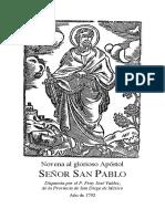 la Novena a San Pablo apostol