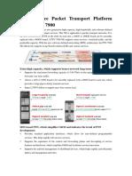 OptiX PTN 7900 Products Brochure