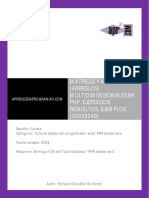CU00824B Matrices Arrays Multidimensionales PHP Ejercicios Resueltos