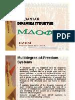 Kuliah 12-13 - Pengantar Dinamika Struktur MDOF B-1