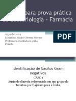 Prova Prática de Bacteriologia - Farmácia Corr