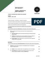 International General Certificate Exam Paper 2