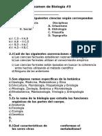 Examen de Biología 3