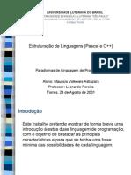 Estruturação de Linguagens
