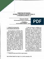 Alessandro Baratta - Direitos Humanos - Entre a Violência Estrutural e a Violência Penal