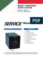 Samsung Mm-da25 Mm-da25q-Xer Micro Component System