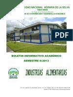 Boletin Informativo Académico Semestre II 2013