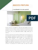 ACABADOS PINTURA