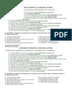 Guía de Trabajo Lenguaje Figurado y Literal