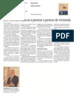 17 - 06 - 16 SHF Invita a Bancos a Prestar a Pymes de Vivienda