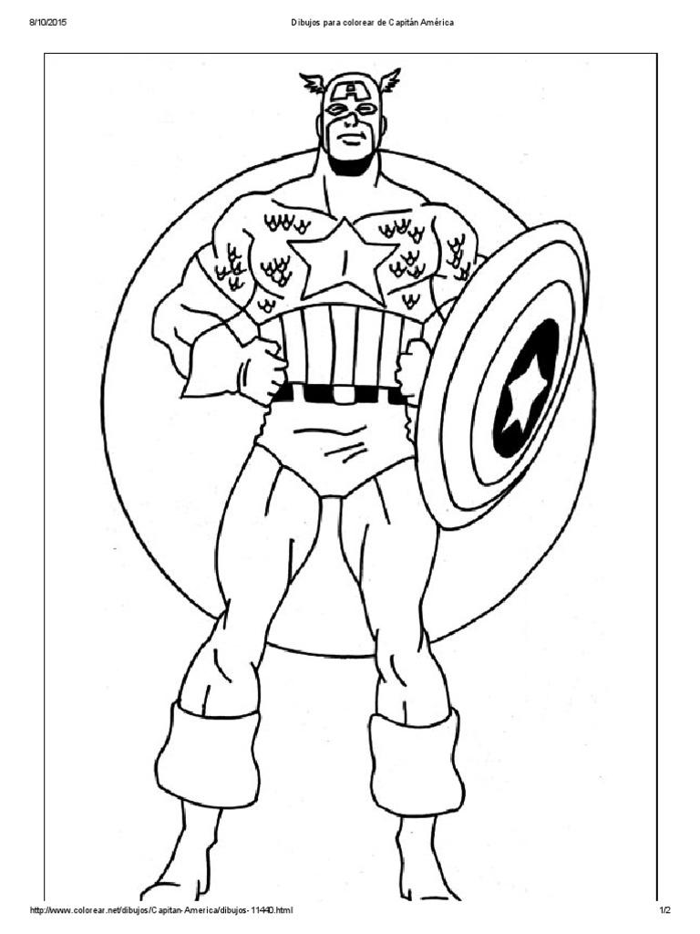 Dibujos Para Colorear de Capitán América