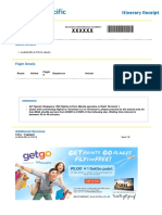 Cebu Pacific Sample Itinerary