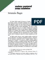 Baggio - La Naturaleza Pastoral de La Norma Canónica