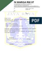 Contoh Surat Undangan Rw