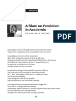 A Slam on Feminism in Academia by Shaunga Tagore