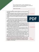 Las Partes Del Texto Argumentativo (Ejemplo).