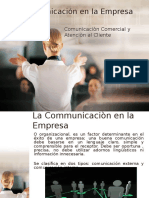 Comunicaciòn Comercial y Atenciòn al Cliente