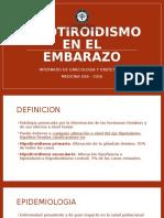 Hipotiroidismo Embarazo