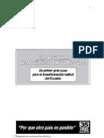 Plan de Gobierno Alianza PAIS