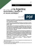 El Litio en La Argentina