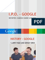 Banking 12 Report - Ipo of Google and Facebook