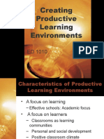 Creating Productive Learning Environments