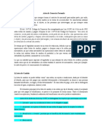 Actos de Comercio Formales y Taxatividad