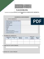 Plan de Mejora 2016