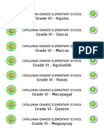 Grade 6 Sections Name Label Diploma