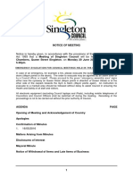 Singleton Council Meeting 2016