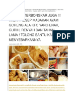 Ayam Goreng Kfc Recepy