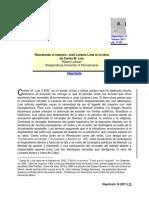 Lezama en La Obra de Carlos M.luis (Artículo)
